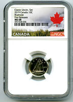 2019 CANADA 10 CENT CLASSIC DIME NGC MS68 FIRST RELEASES