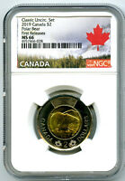 2019 CANADA $2 POLAR BEAR NGC MS66 FIRST RELEASES CLASSIC SE