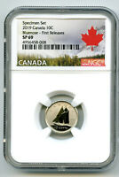 2019 CANADA 10 CENT NGC SP69 FIRST RELEASES FROSTED BLUENOSE