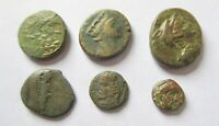 A LOT OF 6 X GREEK AE COINS FROM DIFFERENT MINTS