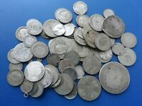 JOB LOT OF WORLD SILVER COINS BEING SOLD AS SCRAP.250 GRAMS.