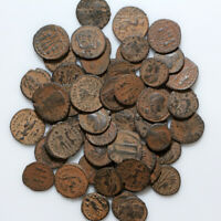 HUGE LOT OF 50 TOP QUALITY LATE ROMAN BRONZE COINS