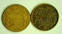 1865 & 1869 2C SHIELD W VISIBLE ON 1865   7526
