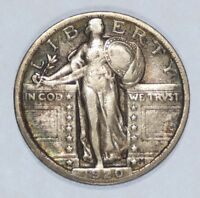 1920 STANDING LIBERTY QUARTER  FINE SILVER 25-CENTS