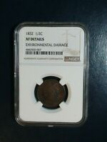 1832 CLASSIC HEAD HALF CENT NGC EXTRA FINE  1/2C PENNY COIN PRICED TO SELL NOW