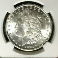 1921 VAM 1E NGC MINT STATE 63 MORGAN SILVER DOLLARGENE L HENRY LEGACY COLLECTION