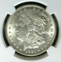 1921 VAM 3E NGC MINT STATE 62 MORGAN SILVER DOLLARGENE L HENRY LEGACY COLLECTION