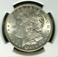 1921 VAM 27A NGC MINT STATE 62 MORGAN SILVER DOLLARGENE L HENRY LEGACY COLLECTION