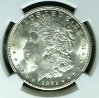 1921 VAM 41B NGC MINT STATE 63 MORGAN SILVER DOLLARGENE L HENRY LEGACY COLLECTION