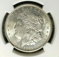 1921-D VAM 1B1 NGC AU 58 MORGAN SILVER DOLLARGENE L HENRY LEGACY COLLECTION
