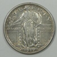 1917 TYPE-1 STANDING LIBERTY QUARTER EXTRA FINE SILVER 25-CENTS