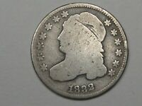 1832 US CAPPED BUST DIME.  3