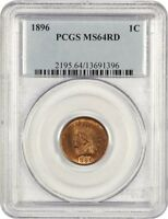 1896 1C PCGS MINT STATE 64 RD - INDIAN CENT