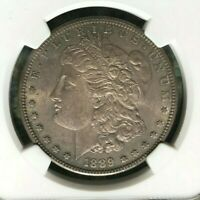 1889-S MORGAN SILVER DOLLAR  NGC MINT STATE 62 TONED  COIN