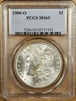 1900-O VAM 15A PCGS MINT STATE 65 MORGAN DOLLAR - DOUBLED STARS & CLASHED OBVERSE