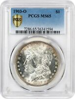 1903-O $1 PCGS MINT STATE 65 - LOW MINTAGE DATE - MORGAN SILVER DOLLAR - LOW MINTAGE DATE