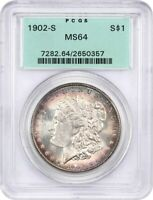 1902-S $1 PCGS MINT STATE 64 OGH OLD GREEN LABEL HOLDER - MORGAN SILVER DOLLAR