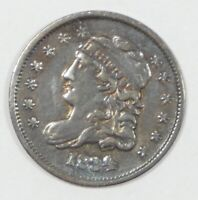 1834 CAPPED BUST SILVER HALF DIME  FINE 5C