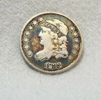 1832 CAPPED BUST SILVER HALF DIME FINE