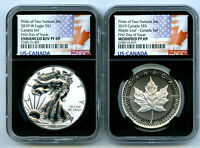 2019 W CANADA RCM VERSION PRIDE OF TWO NATIONS NGC PF69 SET
