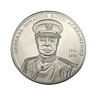 ELF GHANA 100 SIKA 2002 SILVER GENERAL ACHEAMPONG