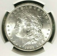 1901-O MORGAN SILVER DOLLAR - NGC MINT STATE 63 BEAUTIFUL COIN  REF056