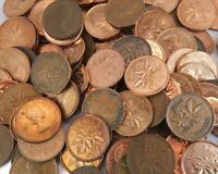 1000 CANADIAN ONE CENT PENNY LOT   MIX DATE 1937 2012 GEORGE