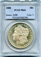 C11603- 1880 PROOF MORGAN DOLLAR PCGS PR64