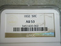 1832 CAPPED BUST HALF DOLLAR AU53 NGC   --POSSIBLY ANDREW JACKSONS COIN ??????