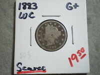 1883 LIBERTY NICKEL/ WITH CENTS  UNCERTIFIED