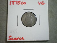 1875-CC SEATED LIBERTY DIME UNITED STATES  {}{UNCERTIFIED}{}--SHIPS FREE