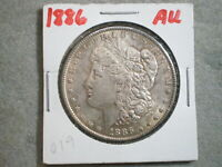 1886 MORGAN SILVER DOLLAR/  TONING -UNCERTIFIED---SHIPS FREE---------