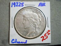 1922-S PEACE SILVER DOLLAR/ CLEANED   --UNCERTIFIED--