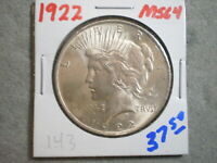 1922 PEACE SILVER DOLLAR/ ORIGINAL/ UNCERTIFIED--SHIPS FREE
