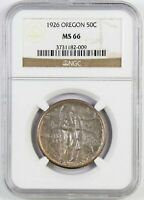 1926 OREGON COMMEMORATIVE HALF DOLLAR : NGC MINT STATE 66