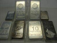10 OZ SILVER BAR OUR CHOICE SPECIAL SALE SHIPS FREE PRESALE SHIPS AUGUST 25