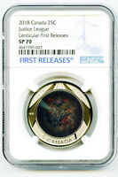 2018 CANADA JUSTICE LEAGUE NGC SP70 FIRST RELEASES LENTICULA