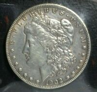 1902 MORGAN SILVER DOLLAR  EXTRA FINE /AU VAM 4 DOUBLED EAR OLD LIGHT CLEANING TOP 100