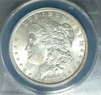1887 MORGAN SILVER DOLLAR  ANACS MINT STATE 62 VAM 1D BEAUTIFUL COIN