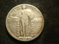 1924-S F VF SOLID STANDING LIBERTY QUARTER CAL