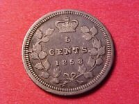 CANADA 5 CENTS SILVER 1858 VICTORIA 1ST YEAR