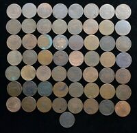 TWO CENT PIECE LOT OF 57 COINS LOWER GRADE & CULLS MOST ARE