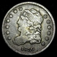 1836 HALF DIME CAPPED BUST VF   3 OVER INVERTED 3   LARGE