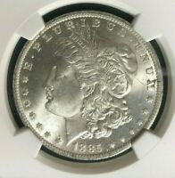 1885-O MORGAN SILVER DOLLAR  NGC MINT STATE 64 BEAUTIFUL COIN REF001