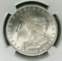 1885-O MORGAN SILVER DOLLAR - NGC MINT STATE 66 BEAUTIFUL COIN REF001