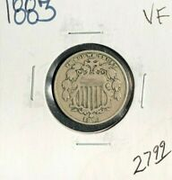 1883 SHIELD NICKEL  VF  COIN
