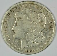 1884 SILVER MORGAN DOLLAR B641.29