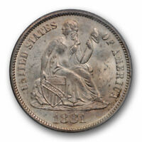 1881 10C SEATED LIBERTY DIME PCGS MINT STATE 63 UNCIRCULATED OGH KEY DATE