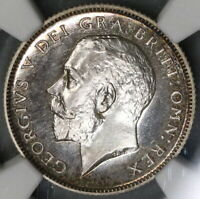1911 NGC PF 64 GREAT BRITAIN 6 PENCE GEORGE V PROOF SILVER COIN  19082601C