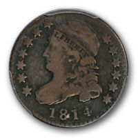1814 10C STATESOF CAPPED BUST DIME PCGS F 12 FINE VARIETY COIN